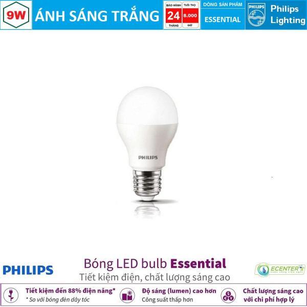 Bóng LED Bulb Philips Essential 9W E27 ( Ánh sáng trắng & vàng )