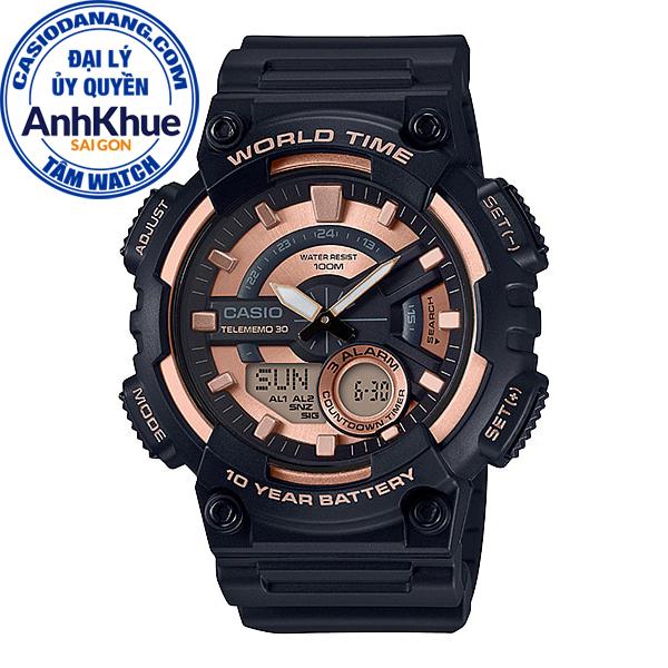 Đồng hồ nam dây nhựa Casio Standard chính hãng Anh Khuê AEQ-110W-1A3VDF (46mm)