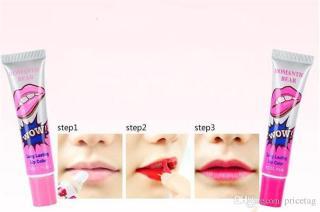 Combo 2 tuýp Son săm Romantic Bear WoW long lasting lip color 15g (Siêu lì 48h - Màu Rose Pink - Nội địa Korea - Hàn Quốc ) thumbnail