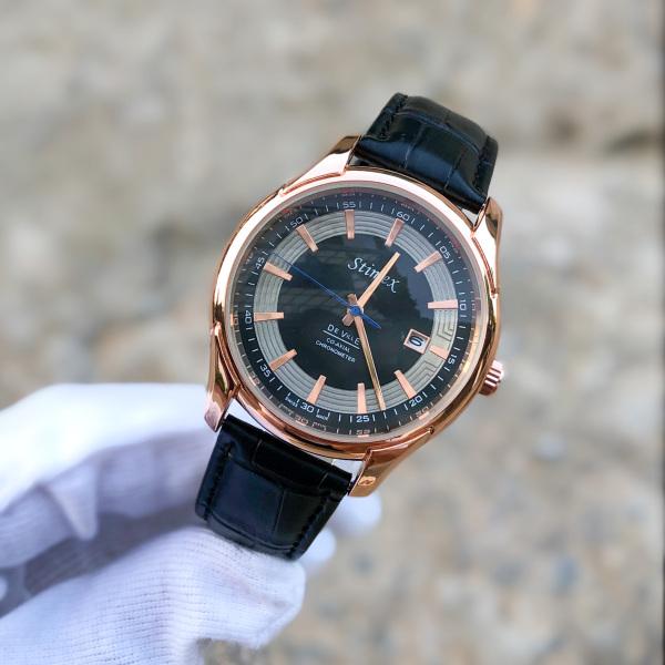 Nơi bán đồng hồ nam De Ville viền vàng hồng chống nước