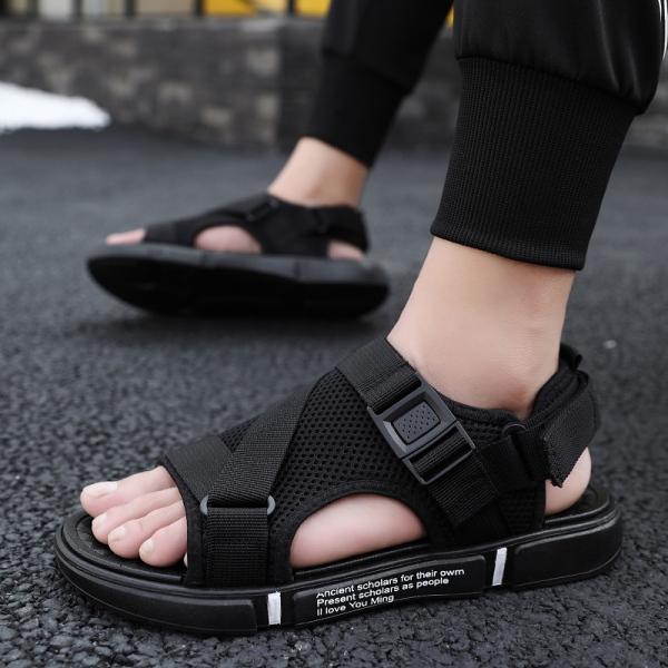 Dép sandal nam học sinh sinh viên giá siêu rẻ đế cao su non êm chân kết hợp vải thoáng khí khử mùi - có thể tháo rời quai hậu