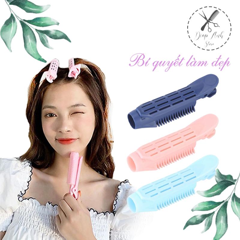 Set 5c lô kẹp uốn tóc tạo kiểu phồng tóc mái tạo kiểu phong cách Hàn Quốc cho nữ giá rẻ