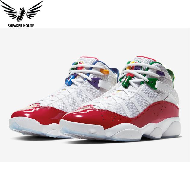 Giày chơi bóng rổ chính hãng Air Jordan 6 Rings Multi-Color CW7003-100 giá rẻ