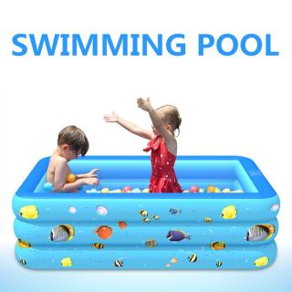 Bể Bơi Phao Trẻ Em , Chọn Ngay Bể Bơi Phao Trong Nhà Hình Chữ Nhật Kích Thước 150 X 150 X 60Cm Loại Dày 3 Lớp Siêu Bền Họa Tiết Cực Đẹp Tặng Kèm bơm Hơi , Miếng Vá. thumbnail