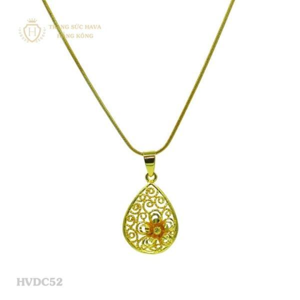 Vòng Cổ, Dây Chuyền Nữ Mặt Bông Hoa Titan Xi Mạ Vàng - Trang Sức Hava Hồng Kông