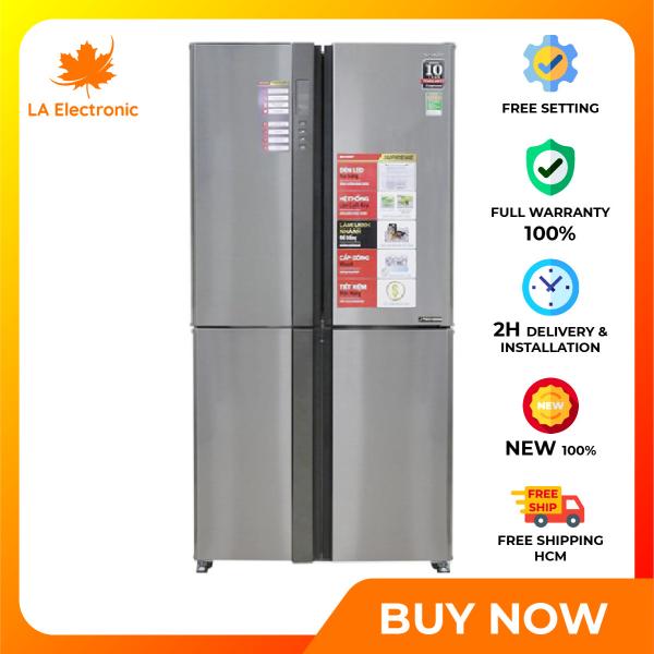 Trả Góp 0% - Tủ Lạnh - Sharp Inverter 556 liter refrigerator SJ-FX630V-ST Full VAT - Miễn phí vận chuyển HCM