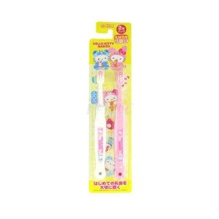 Bàn chải đánh răng Hello Kitty Ebisu cho trẻ 1-3 tuổi - Set 2 chiếc bàn chải đánh răng cho bé sản xuất Nhật Bản VTP Mẹ và bé TX019 thumbnail