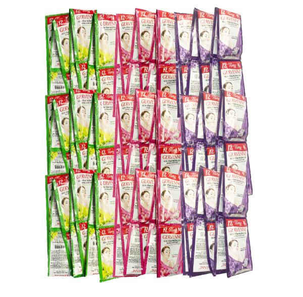 Combo 10 Dây Sữa tắm sữa dê Gervenne hương nước hoa 12 gói/ dây