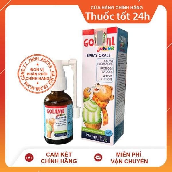 [Lấy mã giảm thêm 30%] Golanil Junior Spray - Xịt sát trùng họng giảm ho cho bé yêu