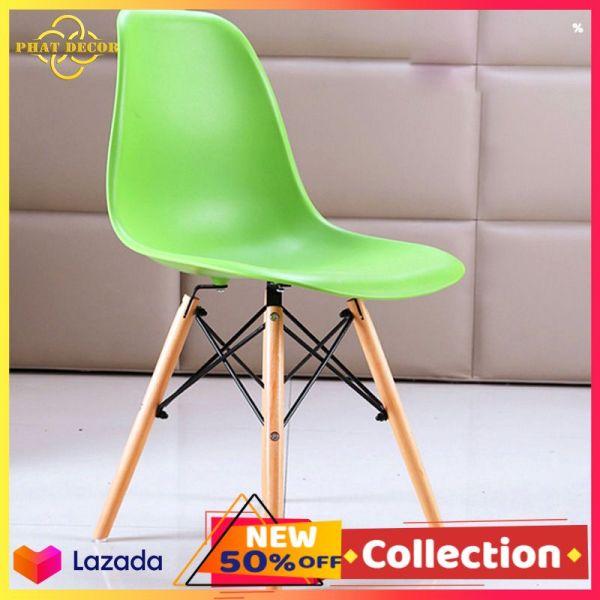 Ghế EAMES nhựa chân gỗ cao cấp loại 1 , ghế cafe vintage , ghế decor phòng , ghế bàn trà ngoài hiên giá rẻ