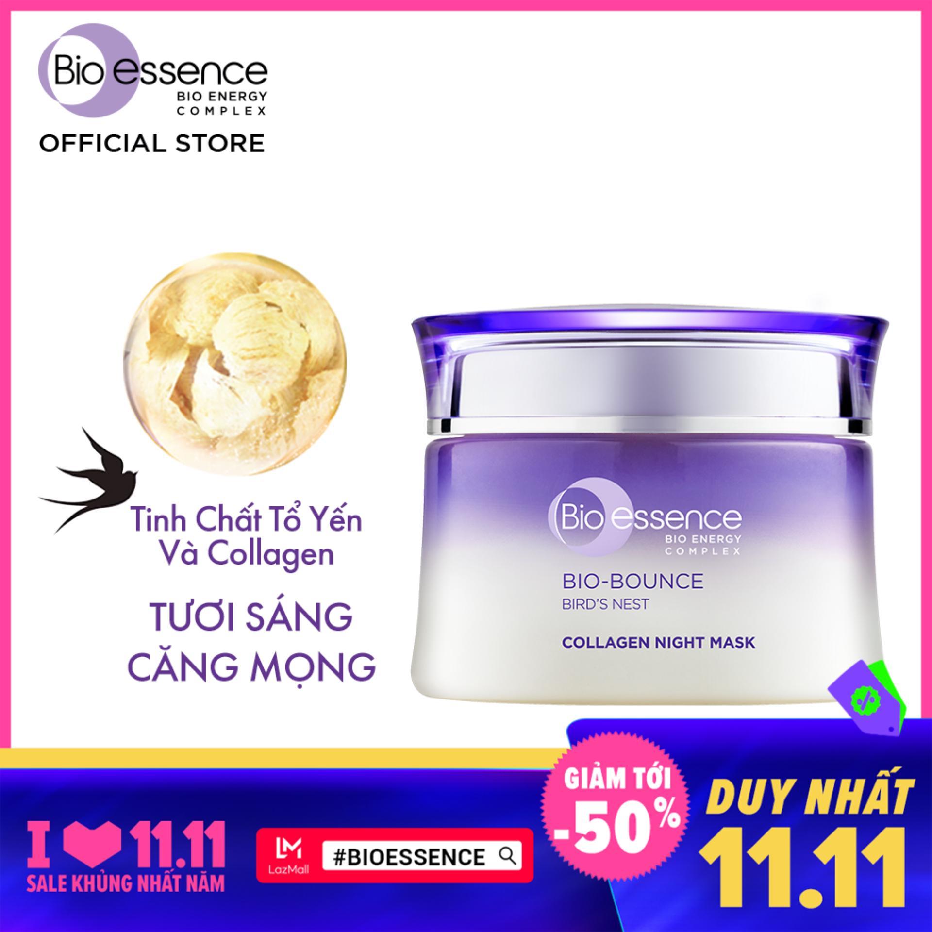 Mặt nạ ngủ dưỡng da Bio-Bounce Collagen Night Mask Bio-essence 50g tốt nhất