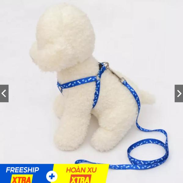 Dây dắt chó mèo (1 lớp) dây yếm đai yên ngựa nhỏ xinh cho chó mèo dưới 7kg