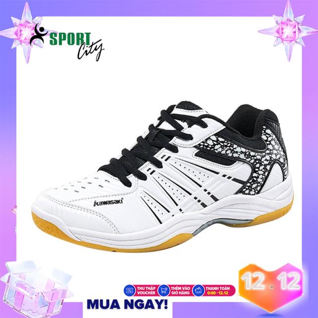 Giày cầu lông, Giày bóng chuyền,giày thể thao Kawasaki K063 màu trắng đen đẳng cấp, bền, đa dạng kiểu dáng màu sắc dành cho nam & nữ giá rẻ