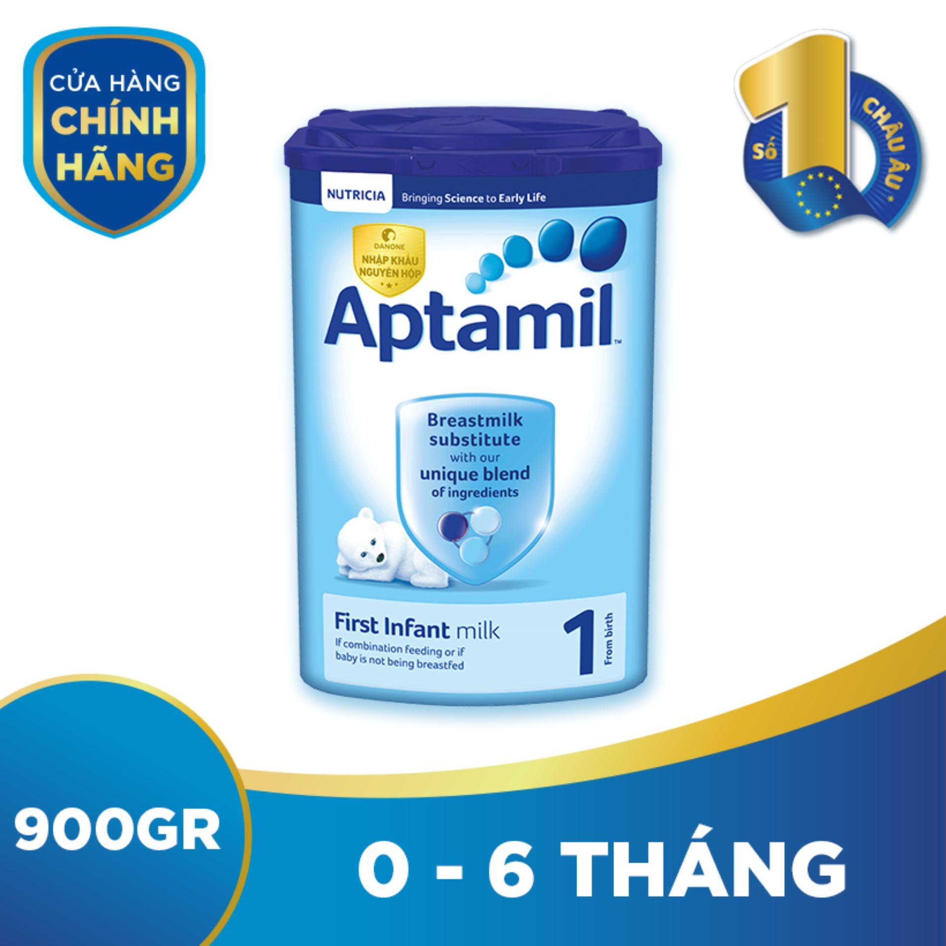 Sữa bột Aptamil Pronutra số 1 900g (Cho trẻ từ...