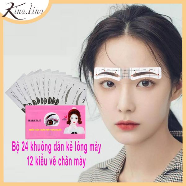 Khuôn vẽ lông cao cấp - Set 24 khuôn - dáng mới hot 2020 - Kina.Kino [ có video ] giá rẻ