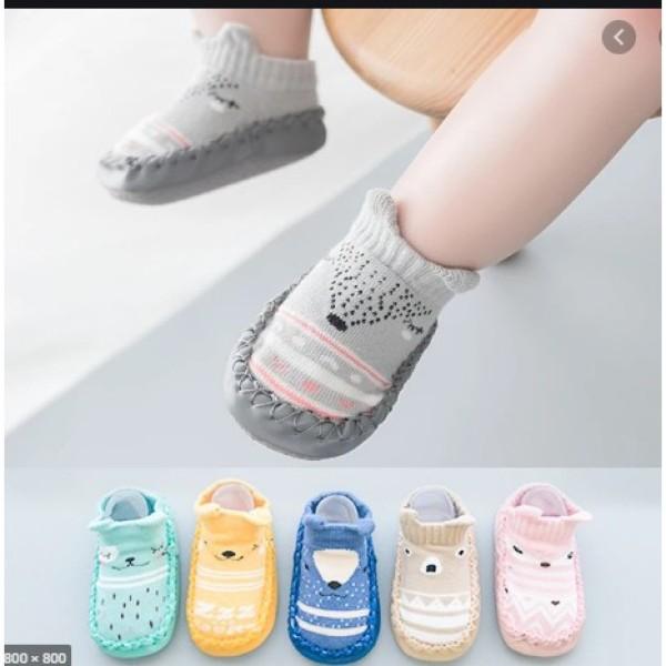 Giá bán Combo 2 đôi giày liền tất tập đi có đế chống trơn trượt cho bé tập đi