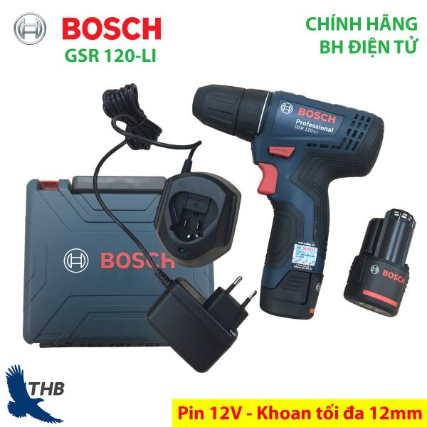 Máy khoan bắt vít dùng Pin 12V Bosch GSR 120-LI - Mới 2019 xuất xứ Malaysia Bảo hành điện tử 06 tháng