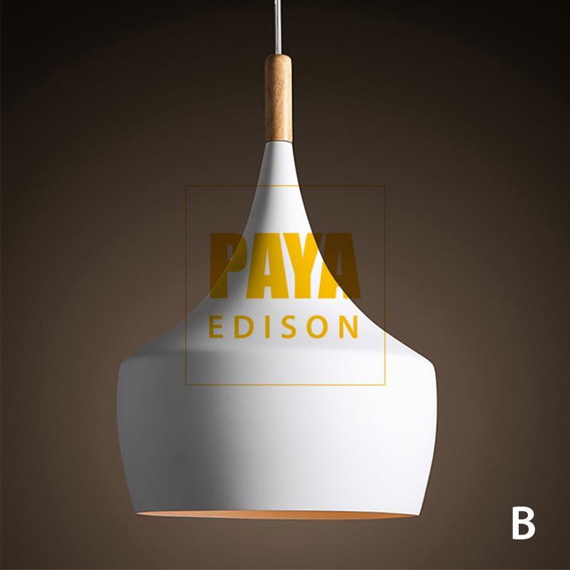 Đèn Thả Bàn Ăn BEATLIGHT - ĐUI GỖ - MẪU B - TRẮNG [CM029] (Tặng Kèm Bóng LED Chuyên Dụng) Giá Tốt Duy Nhất tại Lazada