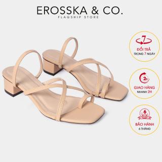 Dép cao gót thời trang Erosska xo ngo n phô i dây phong ca ch Ha n Quô c cao 3cm EM066 (NU) thumbnail
