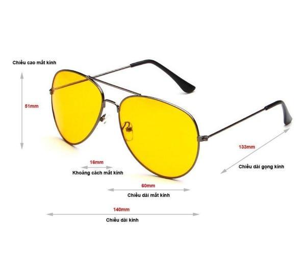 Giá bán Kính nhìn xuyên đêm Night View Glass (Vàng), MẮT KÍNH NHÌN XUYÊN ĐÊM-NIGHT VIEW GLASSES, Kính Nhìn Xuyên Đêm Night View Glass Thời Trang,