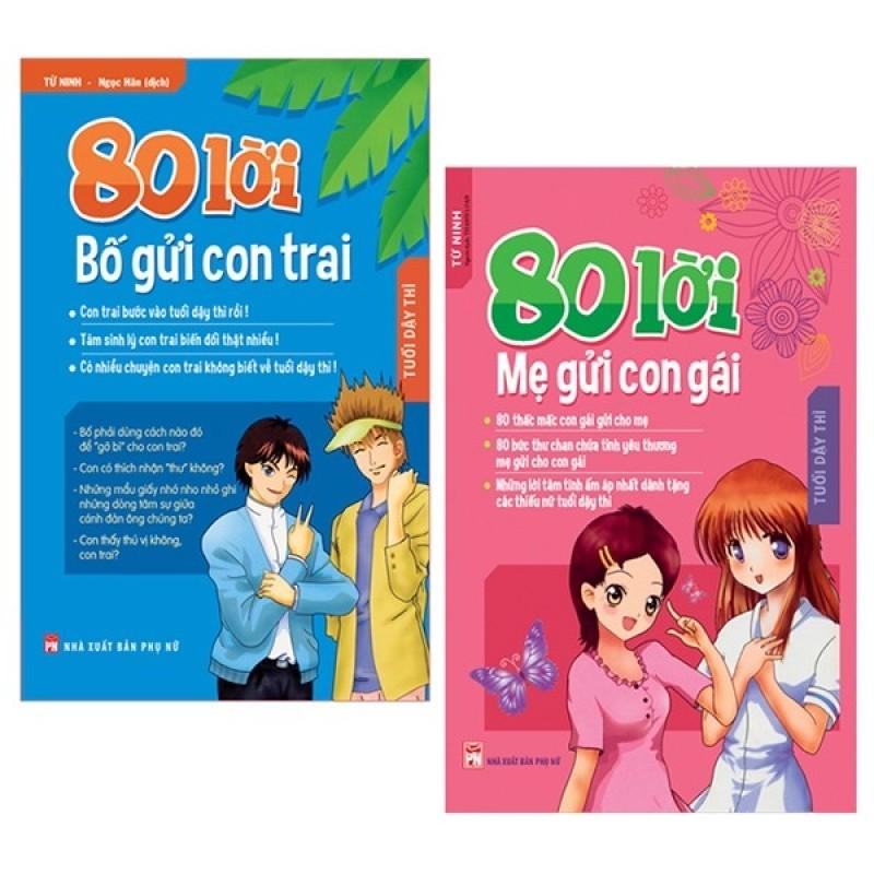 Sách Combo 80 Lời Bố Gửi Con Trai + 80 Lời Mẹ Gửi Con Gái (Bộ 2 Cuốn)
