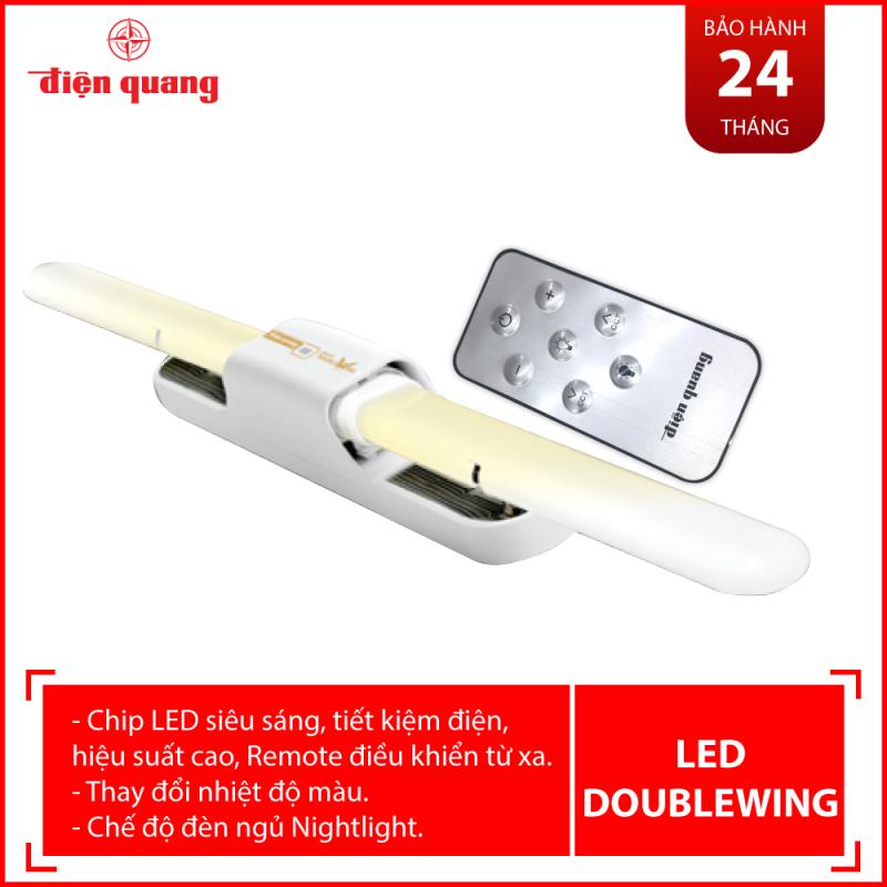 Bộ đèn LED Doublewing SMART Điện Quang ĐQ LED DW01IRM 367CCT ( 36W, điều chỉnh độ sáng và nhiệt độ màu, có Remote, nhôm nhựa )