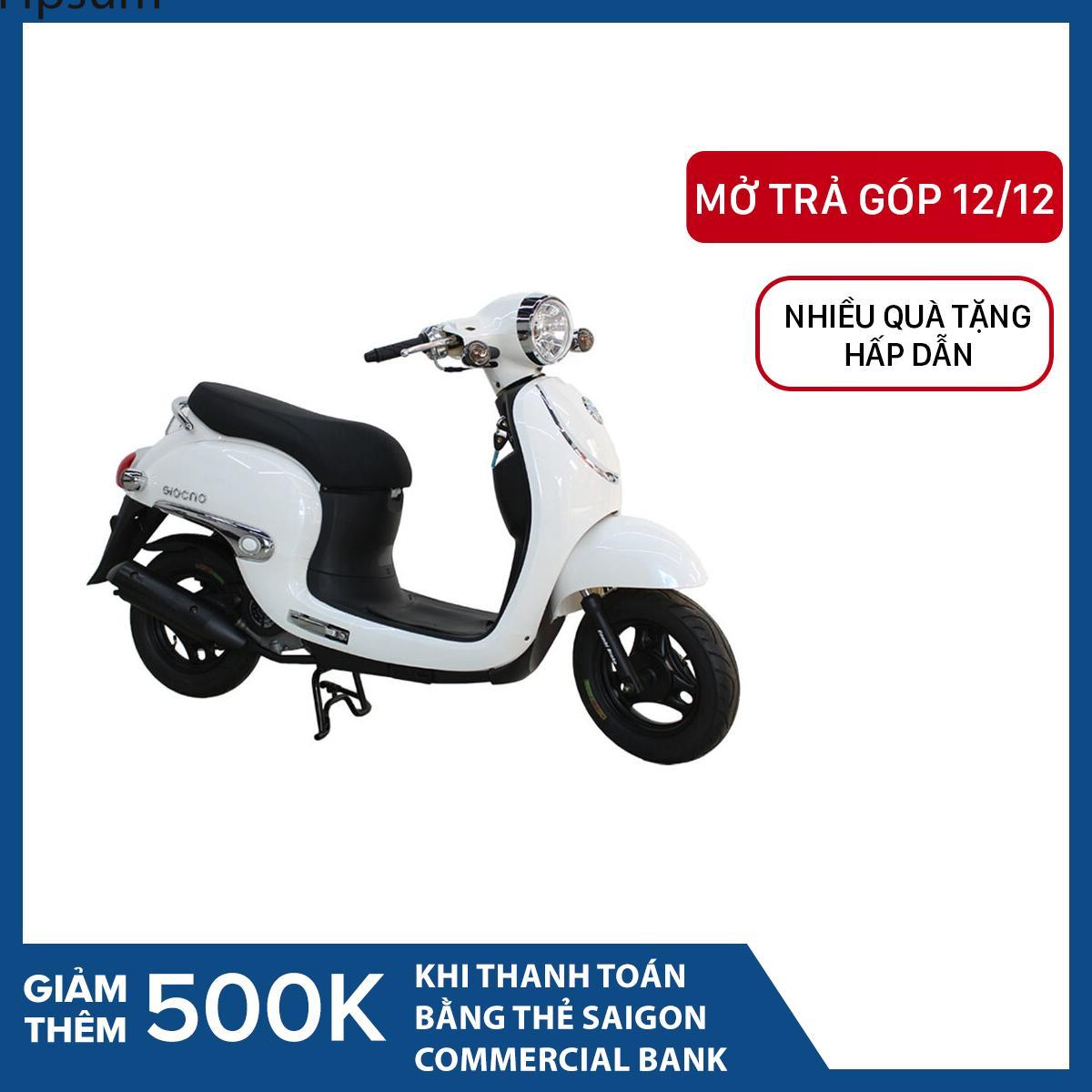 Trả góp 0% - Xe tay ga 50cc Taya Giorno Luxury (màu trắng)