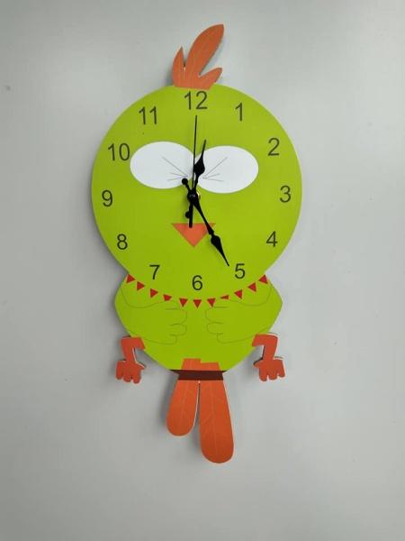đồng hồ treo tường hình chim cú ngộ nghĩnh cho trẻ em bán chạy