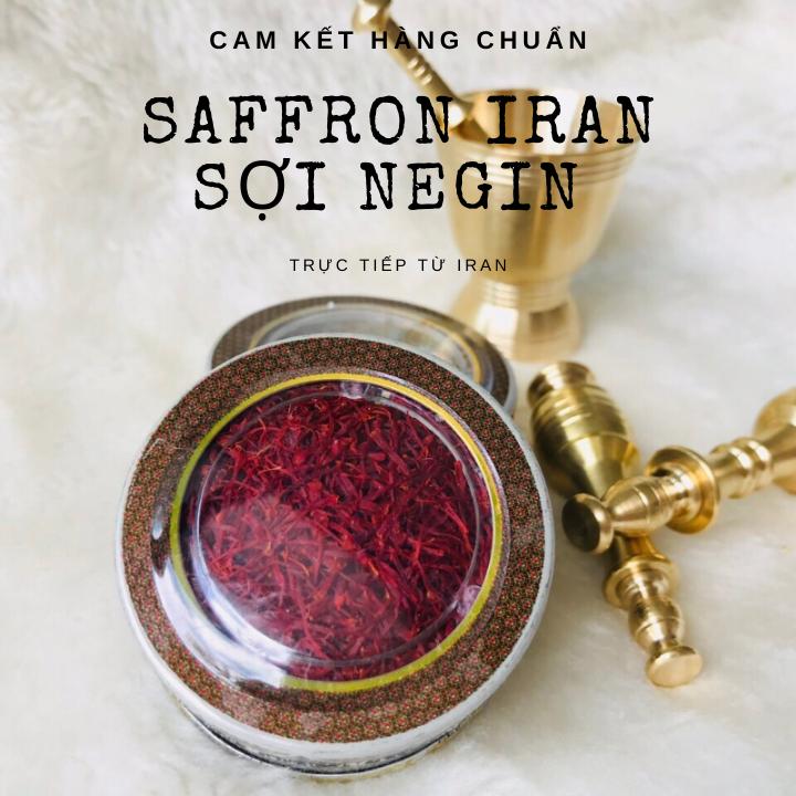 [MUA SAFFRON TẶNG 3GR NỤ HỒNG KHÔ IRAN UỐNG KÈM] 01 gr Nhụy hoa nghệ tây Iran - Saffron Iran loại negin