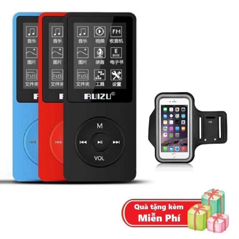 ( Quà tặng Túi đựng máy nghe nhạc đeo tay chống nước ) Máy nghe nhạc mp3 Ruizu X02 bộ nhớ trong 8G hỗ trợ thẻ nhớ lên đến 64G cao cấp