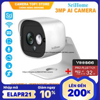 Camera Ip wifi srihome sh029 new - 3mpx siêu nét- kèm thẻ nhớ 32gb chuyên dụng sản phẩm đang được săn đón chất lượng đảm bảo và cam kết hàng đúng như mô tả thumbnail
