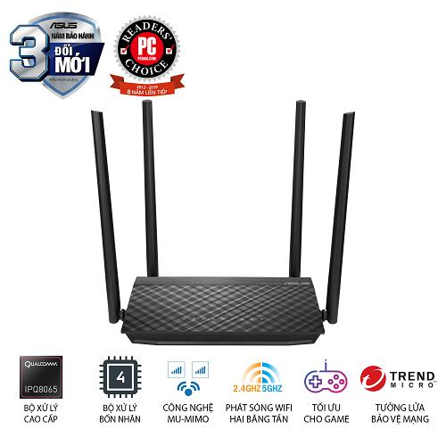 Router Wifi Asus RT-AC1500UHP Băng Tần Kép - Hàng Chính Hãng Giá Quá Tốt Phải Mua Ngay