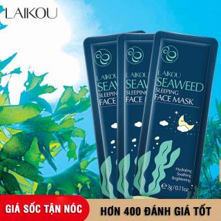 [Giá dùng thử] Set 3 miếng mặt nạ dưỡng da tinh chất tảo biển LAIKOU mặt nạ ngủ rong biển tái tạo phục hồi da mặt nạ chống lão hóa da mặt nạ ngủ dưỡng ẩm XP-MN211 thumbnail
