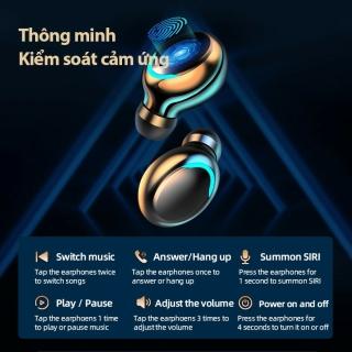 Tai Nghe Bluetooth Nhét Tai Pin Trâu 3500 maH Micro HD, Chống Nước - Tai Nghe Bluetooth 5.0 - Tai nghe bluetooth pin trâu - Tai nghe nhét tai không dây bluetooth, Tai nghe bluetooth không dây pin trâu 4