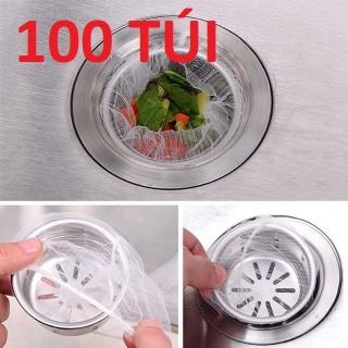 COMBO 100 Túi lọc rác thông minh (LOẠI BỒN RỬA BÁT) Túi Lọc Rác Bồn Rửa Chén, Dụng Cụ Gắp Rác Thông Cống thumbnail
