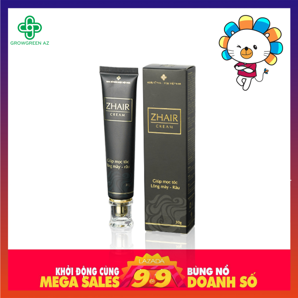 ZHair Cream ngăn ngừa rụng tóc, kích thích mọc tóc, râu, lông mày - Tuýp 30g giá rẻ