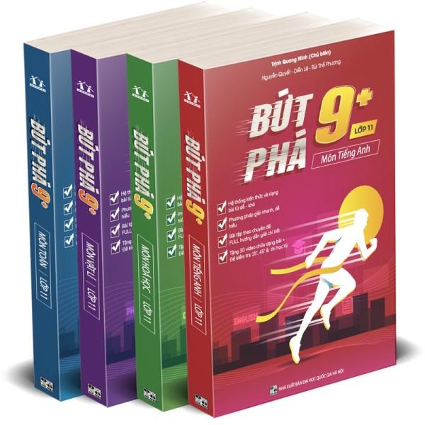 Sách - Combo 4 cuốn Bứt phá 9+ môn Toán, Lí, Hóa, Anh lớp 11