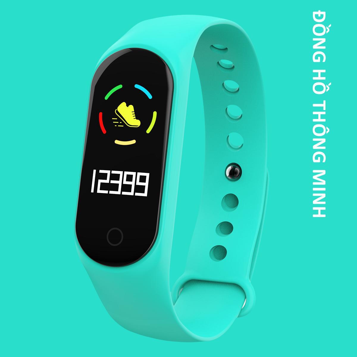 Vòng đeo tay thông minh Đo Nhịp Tim kết nối Bluetooth.Đồng hồ Thông Minh Chống Nước Vòng Tay Đồng Hồ Dây Đeo Tay Tập Thể Thao, Vòng Theo Dõi Sức khỏe bảo hành 12 tháng Xiaomi 4