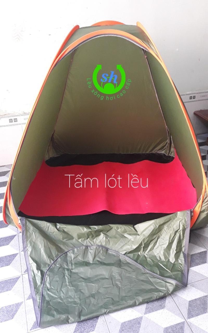 Lều xông hơi cao cấp + tấm lót(xanh quân đội) tốt nhất