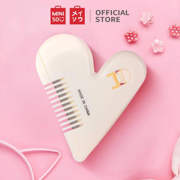 Lược chỉnh tóc Miniso hình tim - Hàng chính hãng nhập khẩu