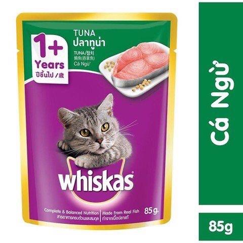 Pate Cho Mèo Whiskas 24 Gói 85g Vị Cá Ngừ SIÊU RẺ Đang Có Ưu Đãi