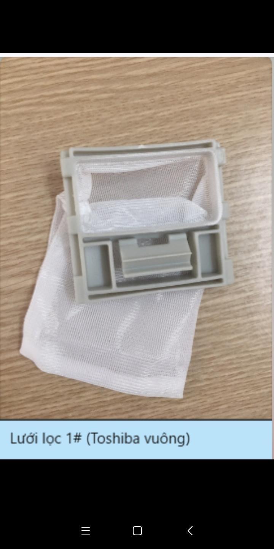 Túi lọc lưới lọc máy giặt TOSHIBA: 8kg vuông 7 x 6.5 cm
