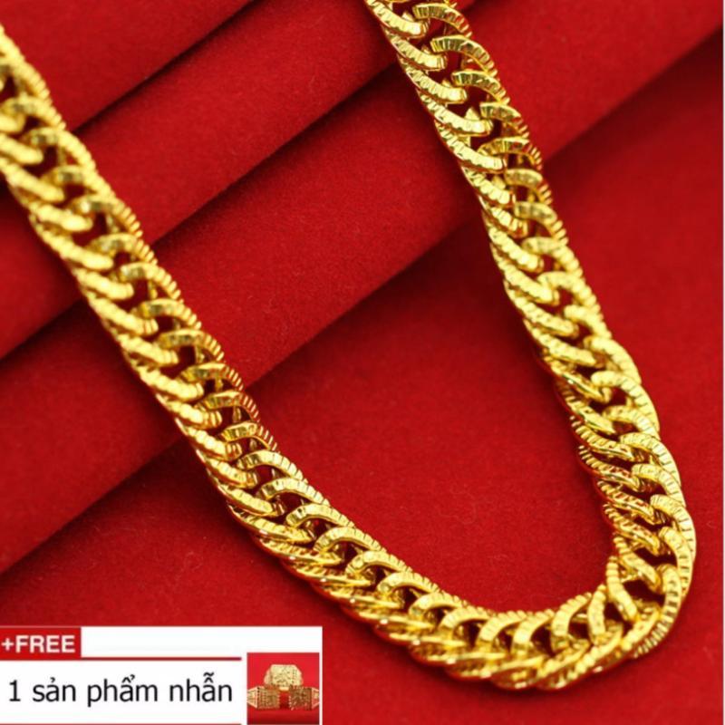 Dây chuyền nam mạ vàng chân không 24k bản 0.9 cm dài 50 cm [ tặng 1 nhẫn]