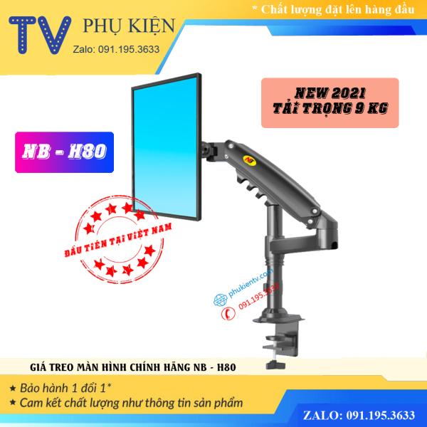 Bảng giá [NEW 2021] Giá treo màn hình NB-H80 17 - 27 Inch Giá đỡ màn hình máy tính xoay 360 độ - Tay treo màn hình chính hãng Phong Vũ