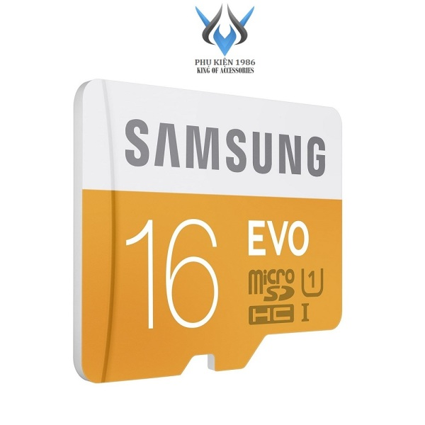 Thẻ Nhớ MicroSDHC Samsung Evo 16gb UHS-I U1 80MB/s - Không box (Cam) - Phụ Kiện 1986