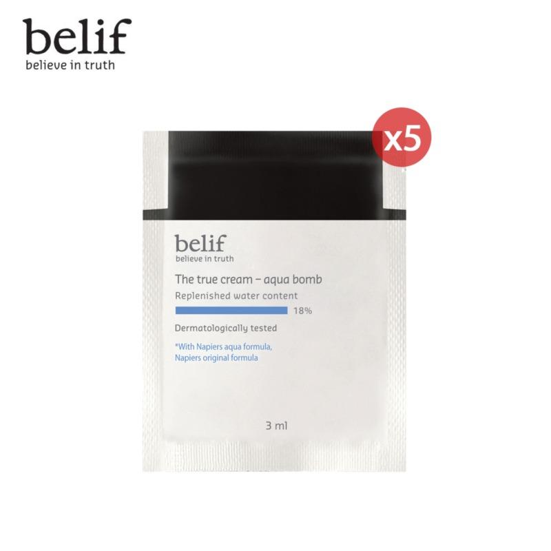 [DEAL TRẢI NGHIỆM 8K] Bộ 5 Kem cấp ẩm tức thì dạng gel Belif The True Cream Aqua Bomb 3ml