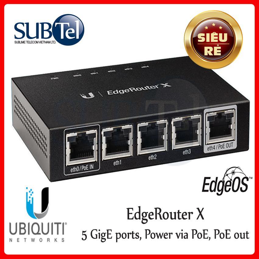 Giá Cân Bằng Tải Cộng Băng Thông Ubiquiti EdgeRouter X Router - SUBtel
