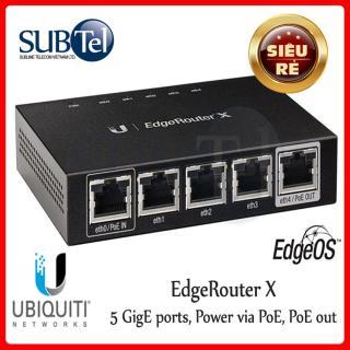 Cân Bằng Tải Cộng Băng Thông Ubiquiti EdgeRouter X Router - SUBtel thumbnail