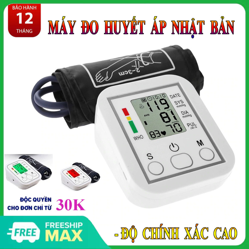 Máy đo huyết áp omron, của nhật , dùng cho gia đình, Máy đo huyết áp mini, cao cấp đến từ thương hiệu Arm Style TẶNG KÈM DÂY NGUỒN CỐC SẠC. nhập khẩu