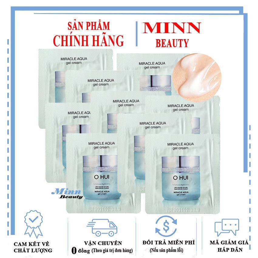 Combo 10 Gói Sample Cấp Nước Dưỡng Ẩm Da Ohui Miracle Aqua Gel Cream 1mlx10 nhập khẩu